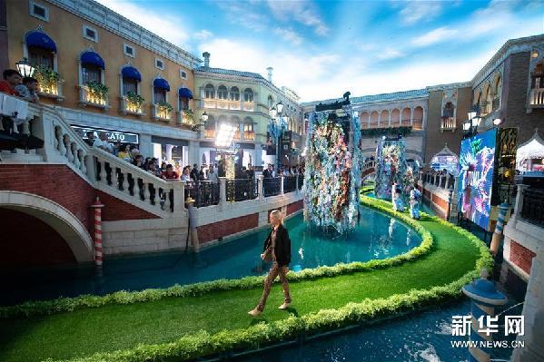 (新華視界)(4)第三屆金沙澳門時裝周上演水上天橋秀