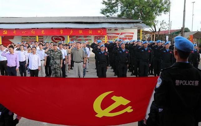 中国维和警察首个海外党建教育展厅揭牌