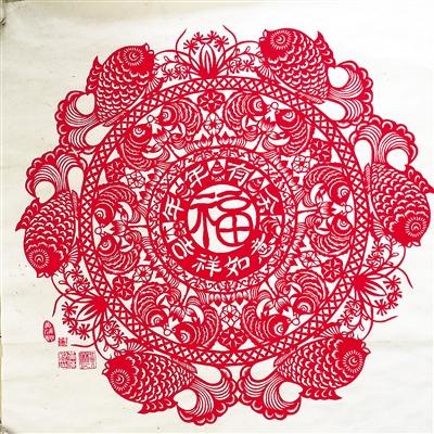 剪纸图案寿桃